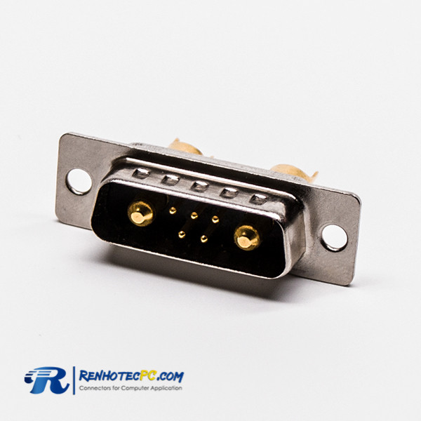 D SUB connector 9 Pin 7W2 Male Power Straight Solder Type For Cable
