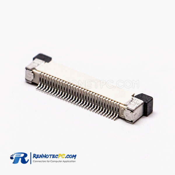 FFC Connector 0.5mm Bottom Contact Style Back Flip H2.0 For PCB Mount