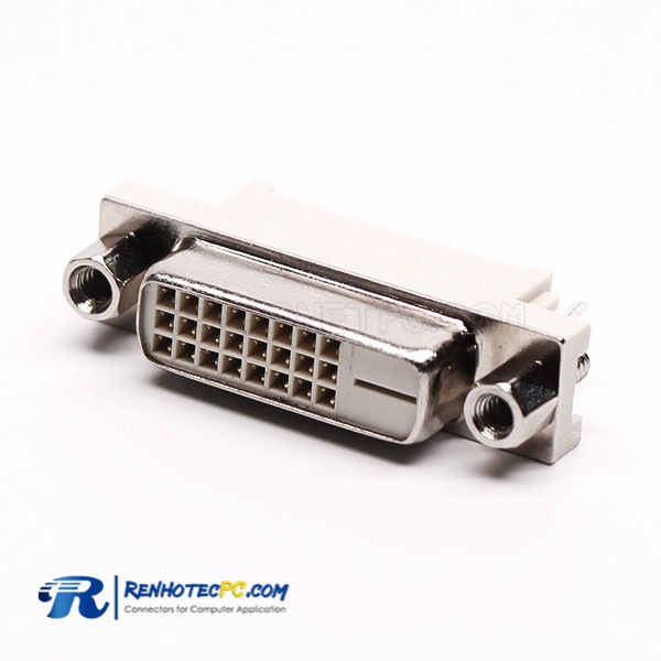 DVI D 24+1 Pin Connector Female Straight Through Hole for PCB Mount