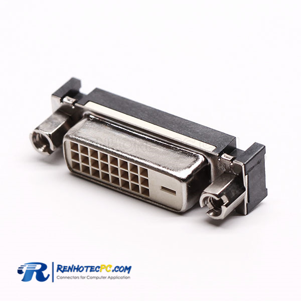 DVI Connector Straight Female Nut 24+1 Through Hole for PCB Mount
