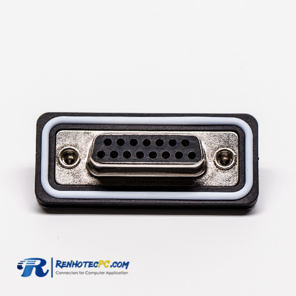 Waterproof DB 15 Insulation Female Straight Connector for Cable