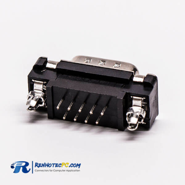 9 Pin D Sub Male Straight Through Hole for PCB Mount Connector