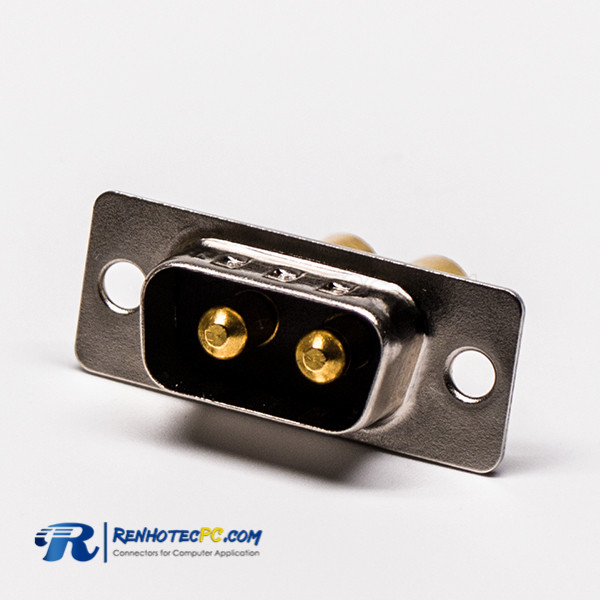 D SUB Power Connector 2W2 Male Straight Solder Type 30A For Cable