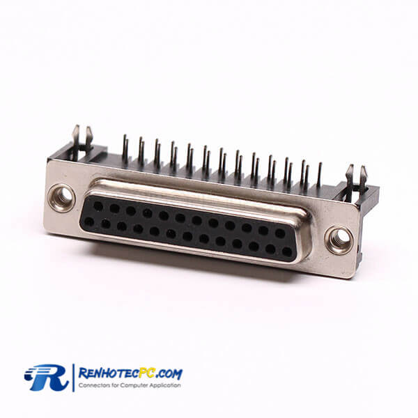 15 Pin D Sub Female Right Angle Staking Type for PCB Mount Connector
