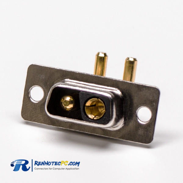 90 Degree D SUB Connector 2V2 Power 20A Solder Type Receptacle For PCB
