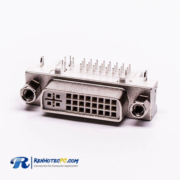 DVI Panel Mount Coupler 24+5 Right Angled Connector