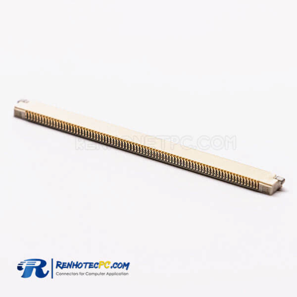 FPC Connector Socket 1.0PH Bottom Contact Style 80pin Slider Type H1.2