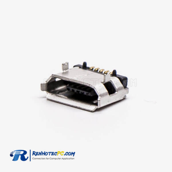 Micro USB Female 5 Pin Type B SMT 180° 5.65 for PCB Mount