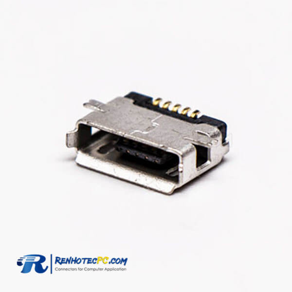 Micro USB Female Connector 5 Pin Type A Straight SMT for PCB