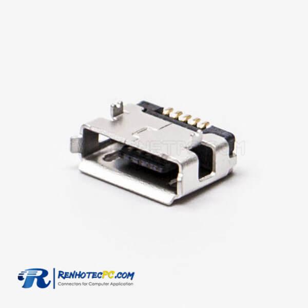 Micro USB Female Socket Type A DIP Straight Through Hole