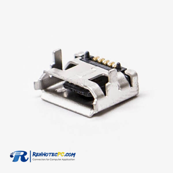 Connector Micro USB 5 Pin Type B DIP 7.15 for PCB Mount