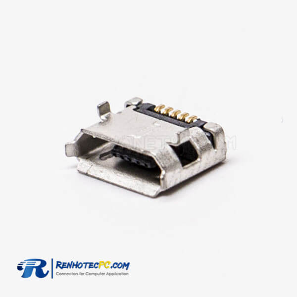 Micro USB Female Pinout Type B SMT DIP Type 5.65 for PCB Mount