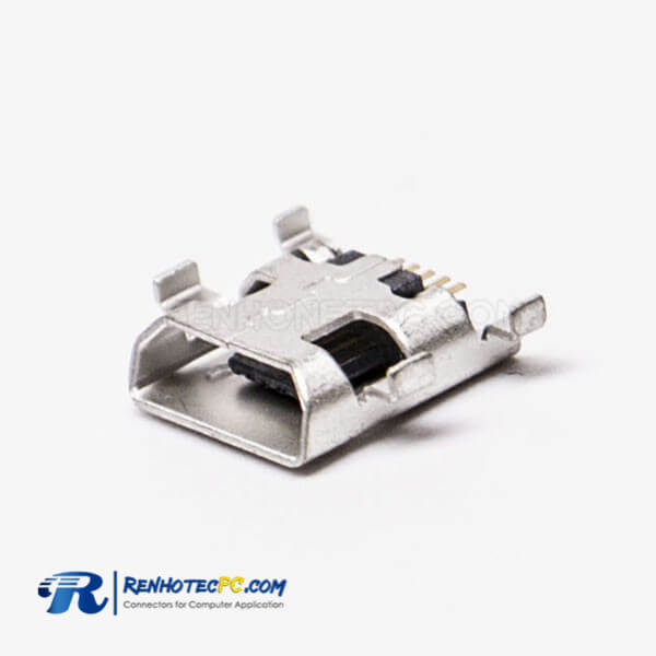 Micro USB Type B Female Offset Type SMT for PCB Mount