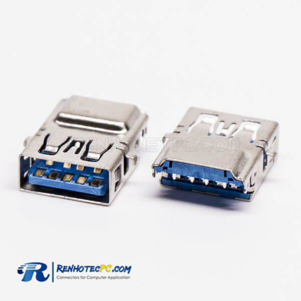 USB 3.0 Speed Type A Connector Female 90 Degree SMT Offset Type