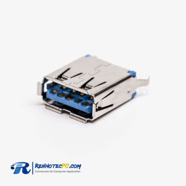 USB 3.0 Female Connector Type A Straight Through Hole