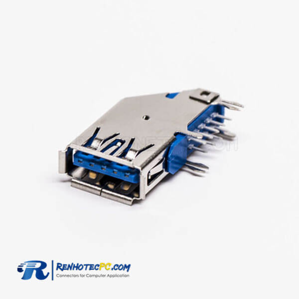 USB 3.0 Flag Type Type A Female 90 Degree DIP for PCB Mount