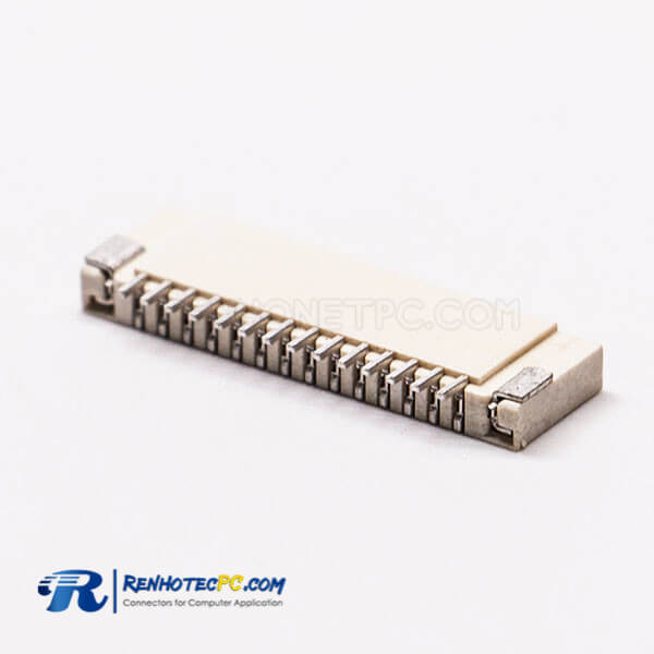 2.0H FPC Socket Connector Dual Contact Style 1.0 PH 14 PIN Horizontal Type