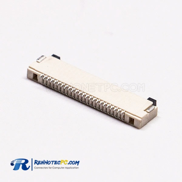 FPC FFC Socket 0.5mm Horizontal Type and Dual Contact Style without Lock