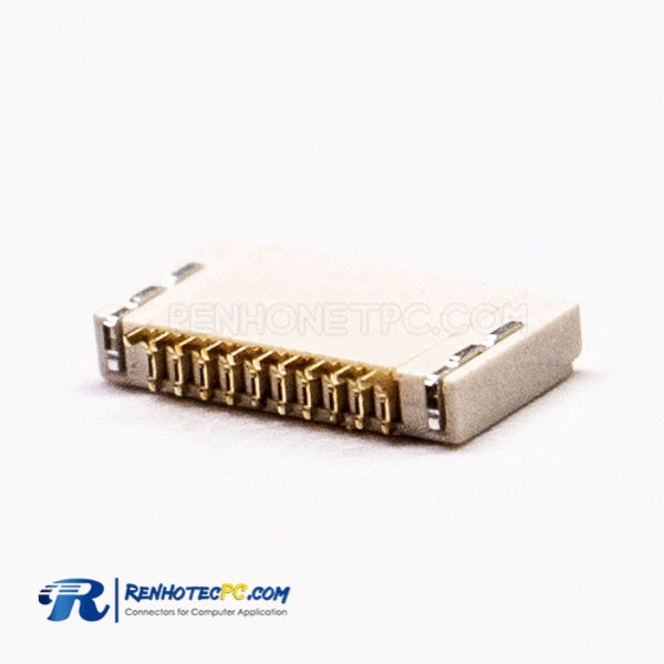 0.5PH 10 Pin FPC Front Flip and Bottom Contact Style for PCB 1.5H