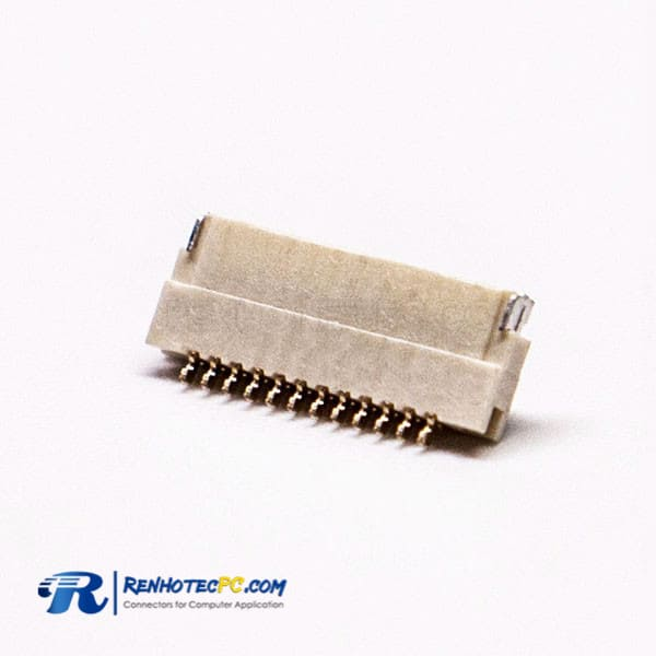 1.0H FFC FPC Connector 0.5 MM Front Flip and Bottom Contact Style FOR PCB