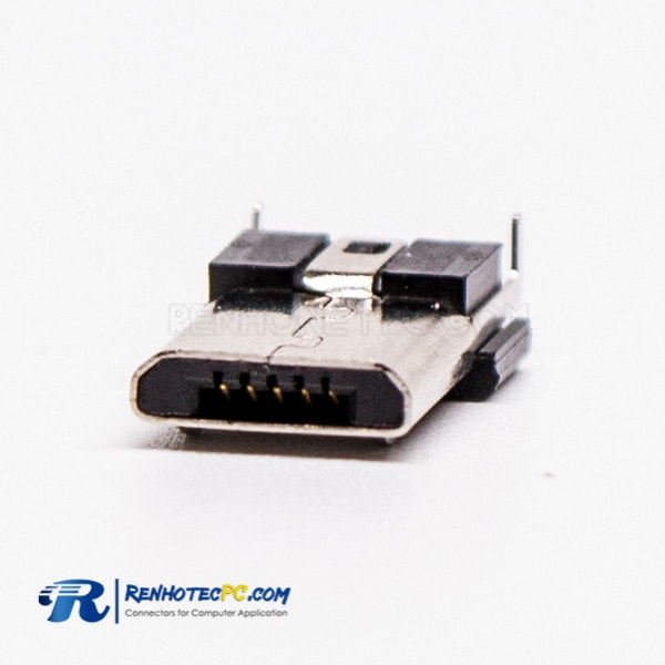 Male Micro USB Connector R/A DIP 5 Pin Type B For PCB