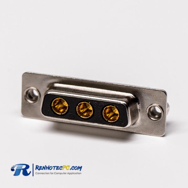 Combo D-sub,Straight/180°,Female/Jack,Power D-sub,3W3,Through Hole,PCB Mount,Solder Type