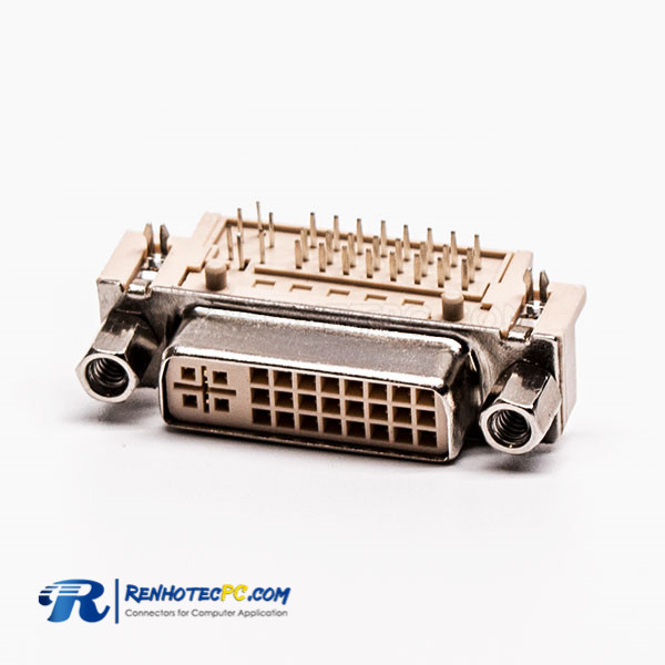 Right Angled Female DVI Connector Types 24+5