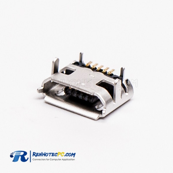 Micro USB B Female Connector 5 Pin SMT Type B Straight for PCB