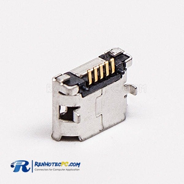 5 Pin Micro USB Dual Female SMT Type B DIP 6.4 Straight for PCB