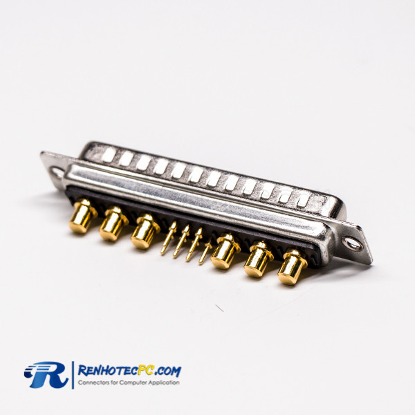 13W6 D SUB Power Connector Solder Type Male Straight for Cable Staking Type