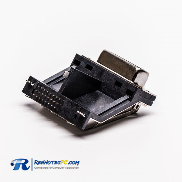 Elevated DVI Female connector for PCB Mount