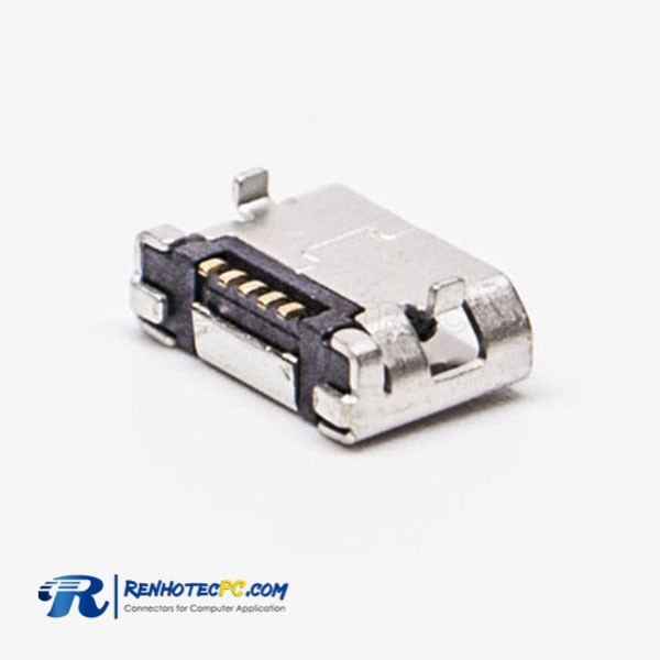 USB Micro Female Pinout DIP 5.65 Type B SMT 5 Pin for Phone