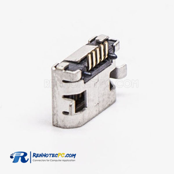 Micro USB Female 5 Pin SMT Type 180 Degree for PCB Mount