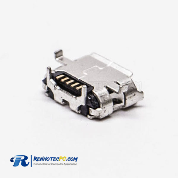 Female Micro USB B Pinout Connector SMT Type for PCB