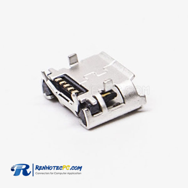 5 Pin Micro Female USB SMT Type B 180 Degree for PCB Mount