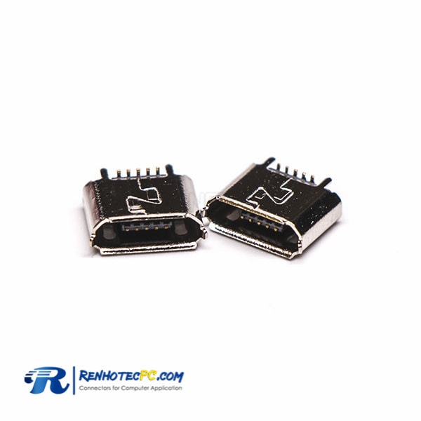 Micro USB B type Female Plug 5 Pin SMT Straight for PCB