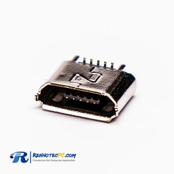 Micro USB B type Female Plug 5 Pin SMT Straight for PCB
