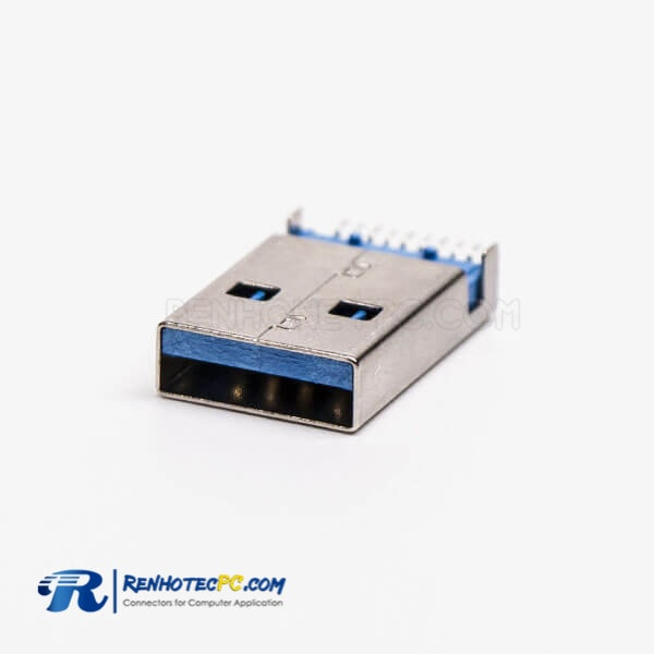 USB 3.0 Type A Male Connector Straight SMT Offset Type