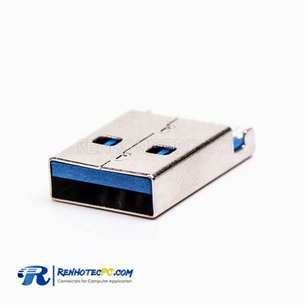 Type A USB 3.0 Male Connector Offset Type SMT for PCB Mount