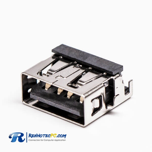 USB Female Right Angled Type A Offset Type