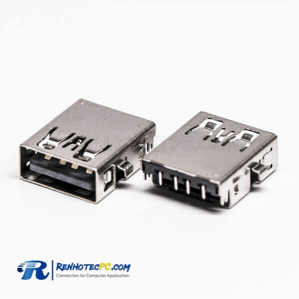 USB2.0 Through Hole Mount Female Type A 90° Reverse for PCB