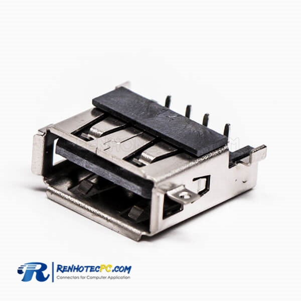 Order Female USB Through Hole Right Angled SMT for PCB Mount