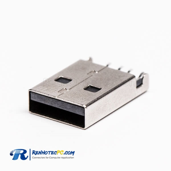 USB Type A 90 Degree Plug SMT for PCB Mount