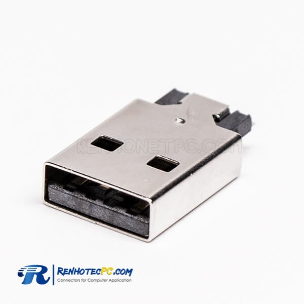 USB Male 2.0 Type A Connector Offest Type for PCB Mount