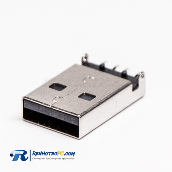 USB Type A SMT Connector Male Offest Type for PCB Mount