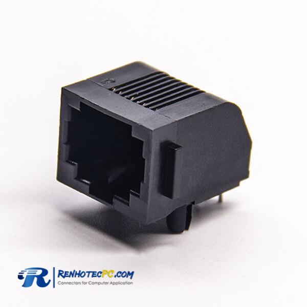 RJ45 Female Socket Ethernet Network Through Hole 90 Degree 8p8c PCB Mount