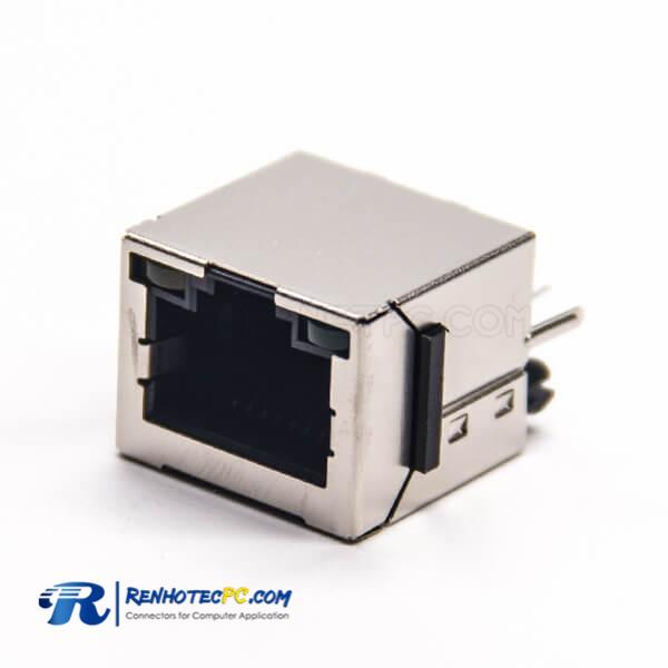 RJ45 LED Indicators Straight Jack Shielded with LED Through Hole for PCB Mount