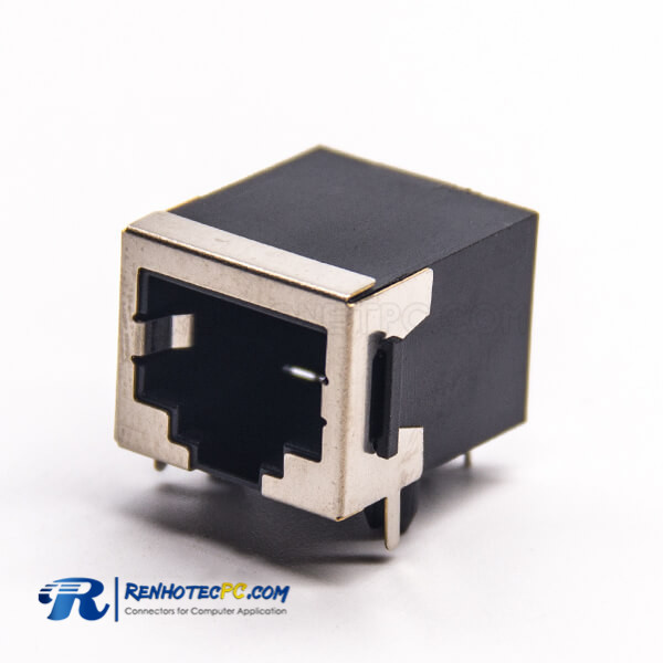 RJ45 Ethernet Connectors Through Hole Modular 90 Degree Shielded without LED