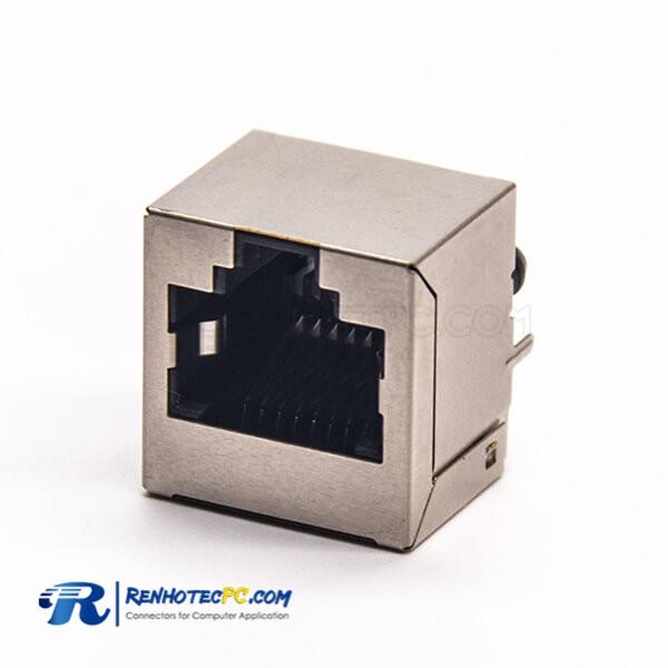 180 Degree RJ45 Jack Through Hole Ethernet Network Coupler Shielded