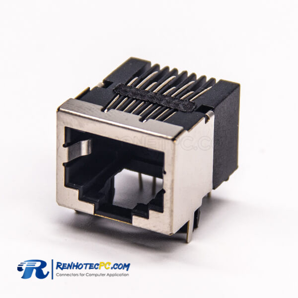 RJ45 Shielded Coupler Modular Connector 8P8C RJ45 Through Hole PCB Mount